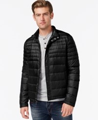 Kenneth Cole Quilted Puffer Hipster Jacket Black