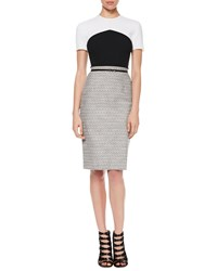Jason Wu Crepe Tweed T Shirt Dress Women's