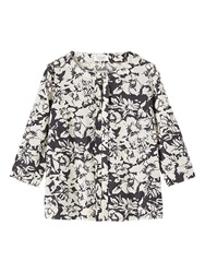 Toast Inked Floral Top Black Bone