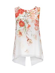 Wallis Petite Floral Print Shell Top Cream