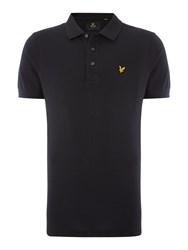 Lyle And Scott Short Sleeve Plain Pique Polo Black