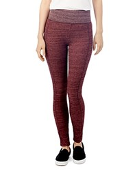Alternative Apparel Fireside Thermal Leggings Currant Space Dye