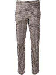 P.A.R.O.S.H. 'Adel' Slim Fit Trousers Brown