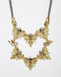 Little Mistress Statement Double Row Necklace Gold