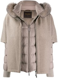 Moorer Layered Padded Coat Neutrals