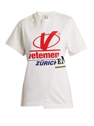 Vetements Zurich Reconstructed T Shirt White