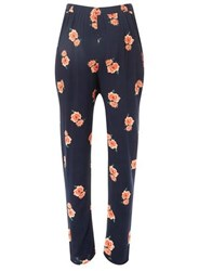 Dorothy Perkins Maternity Navy Floral Woven Joggers Blue