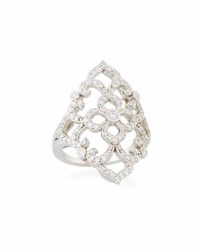 Penny Preville 18K White Gold Diamond Lace Ring Size 6