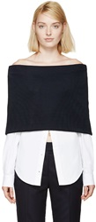 Jacquemus Navy Wrapped Shirt