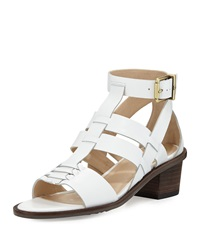 Elliott Lucca Lena Block Heel Leather Sandal White