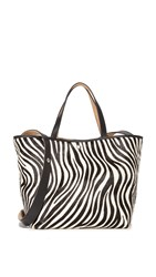 Elizabeth And James Eloise Haircalf Tote Zebra