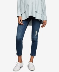 A Pea In The Pod Maternity Cropped Skinny Jeans Medium Wash