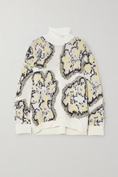 3.1 Phillip Lim Intarsia Knitted Turtleneck Sweater White
