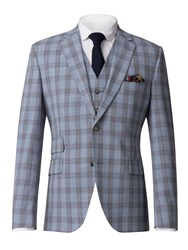 Gibson Men's Pale Blue Check Jacket Blue