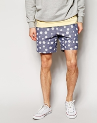 Farah Smart Shorts With Dot Pattern Darkindigo