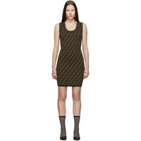 Black And Brown Knit 'Forever Fendi' Dress