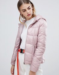 Bershka Light Weight Hooded Padded Jacket Multi