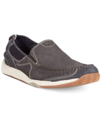 Clarks Allston Free Slip On Boat Shoes Men's Shoes Navy Nubuck