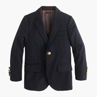 J.Crew Boys' Ludlow Two Button Blazer In Navy Wool