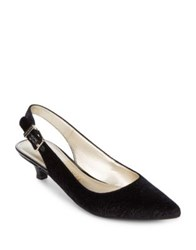 Anne Klein Expert Velvet Dress Pumps Black