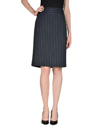 Marella Knee Length Skirts Dark Blue