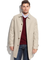 Tommy Hilfiger Single Breasted Removable Liner Rain Coat Tan