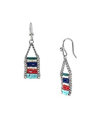 Kenneth Cole Multi Colored Bead Drop Earrings