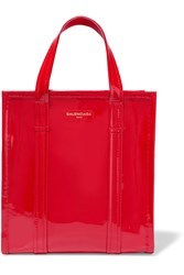 Balenciaga Bazar Patent Leather Tote Red