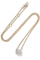 Pomellato Nudo 18 Karat Rose And White Gold Diamond Necklace Rose Gold