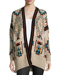 Golden By Jpb Trance Tribal Print Cardigan Desert Skull