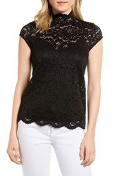 Rosemunde Filippa Lace Cap Sleeve Top Black