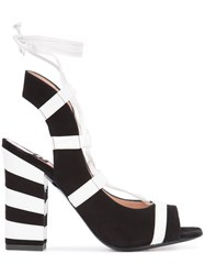 Boutique Moschino Striped Sandals Black
