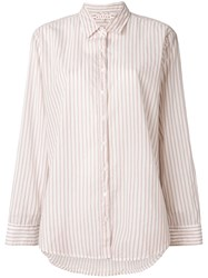 Xirena Striped Shirt Nude And Neutrals