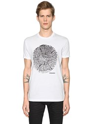 Dsquared Wood Printed Cotton Jersey T Shirt