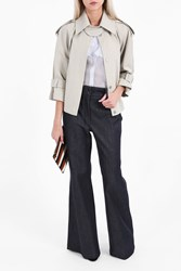 Vilshenko Women S Cropped Mac Jacket Boutique1 Khaki