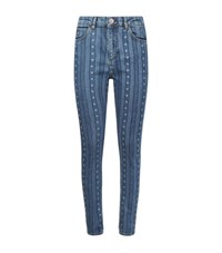 Sandro Diva Star Stripe Jeans Female Blue