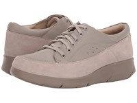 Hush Puppies Dasher Mardie Taupe Leather Lace Up Casual Shoes