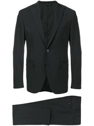 Tonello Fitted Formal Suit Black