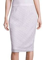 Escada Silk Lace Pencil Skirt Natural