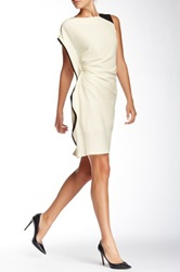 Insight Asymmetrical Ruched Dress White