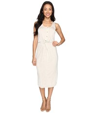 Culture Phit Elisa Sleeveless Button Up Dress With Twist Detail Natural Women's Dress Beige