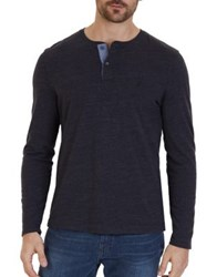 Nautica Classic Fit Long Sleeve Henley Red