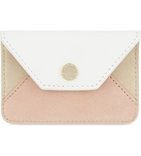 Maje Soli Suede And Leather Card Holder Nude
