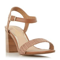Head Over Heels Ivette Woven Front Two Part Sandals Tan
