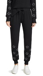 Chrldr Stitched Stars Flat Pocket Sweatpants Black