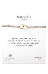 Dogeared Women's Double Linked Friendship Bracelet Taupe Gold