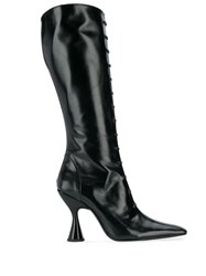 Dorateymur Mid Calf Pointed Boots Black