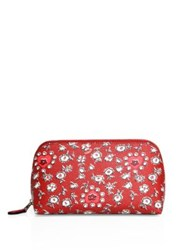 Coach Wild Heart Leather Cosmetic Case Red