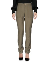 Leo And Sage Casual Pants Military Green