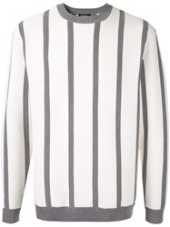 Guild Prime Striped Fitted Sweater White